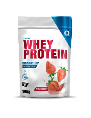 WHEY PROTEIN 900G STRAWBERRY - Quamtrax