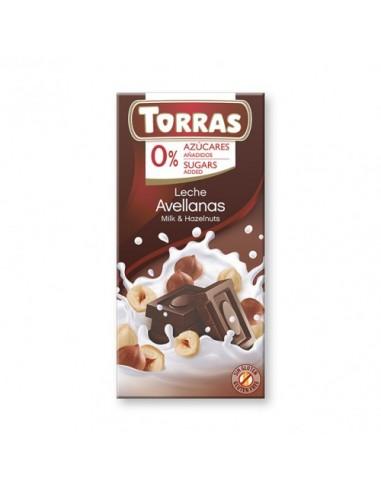 """CHOCOLATE CON LECHE Y AVELLANAS """"SIN..."""