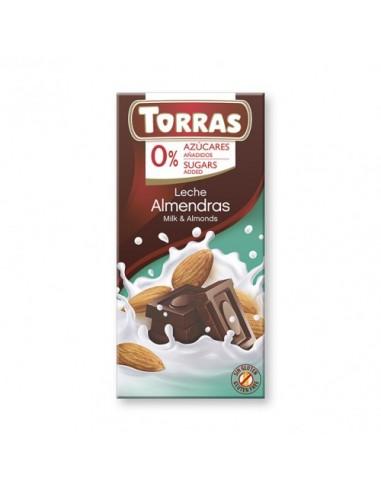 """CHOCOLATE CON LECHE Y ALMENDRAS """"SIN..."""