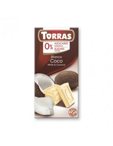 "CHOCOLATE BLANCO CON COCO ""SIN..."