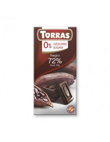 ZERO CHOCOLATE NEGRO 72% DE CACAO...