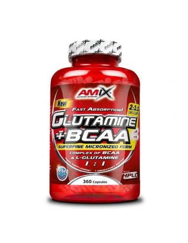 GLUTAMINE + BCAA 360Caps - Amix...