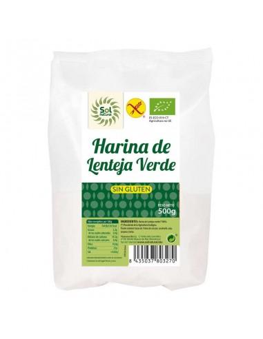 HARINA DE LENTEJA VERDE SIN GLUTEN...